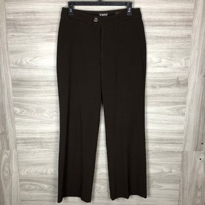 Nydj Brown Wide Leg Dress Pants